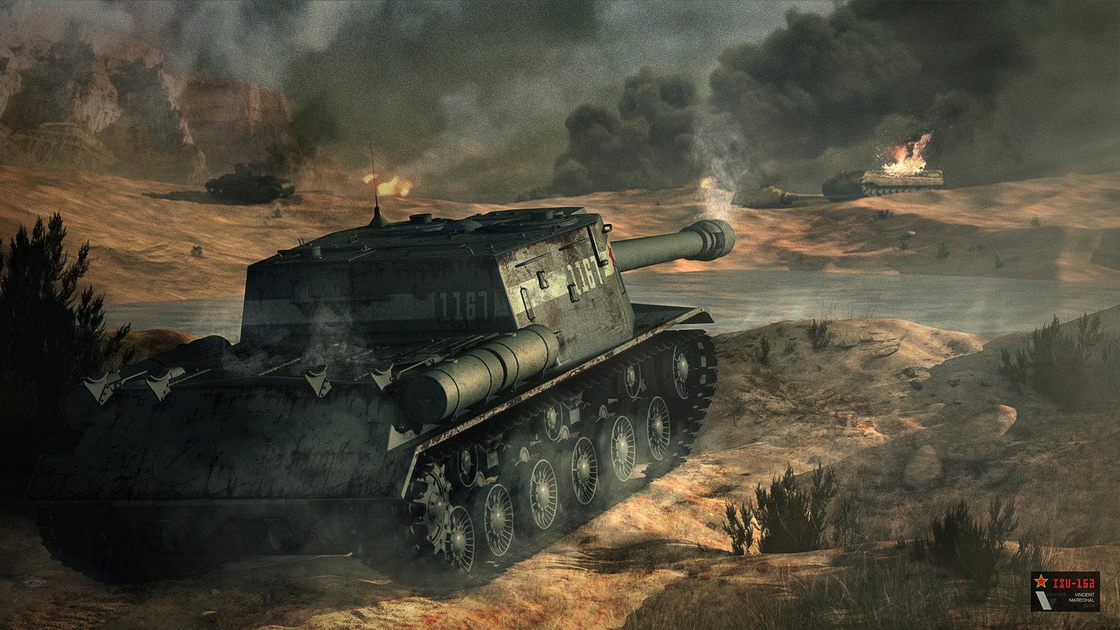 isu_152___soviet_tank_destroyer_by_vanishin-d7l3v59
