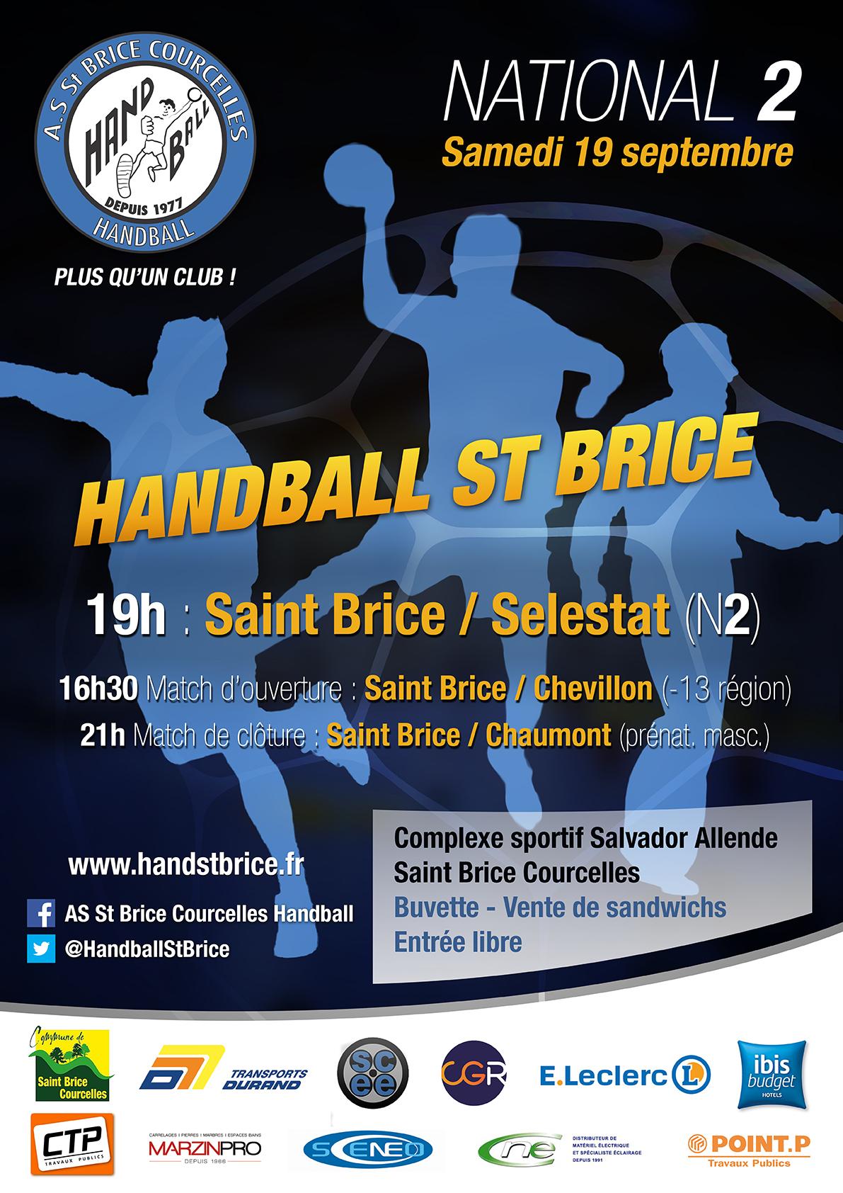 Affiche de compétition de Handball N2